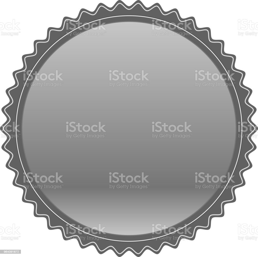 Fashionable Silver medal - Royalty-free Achievement stock vector