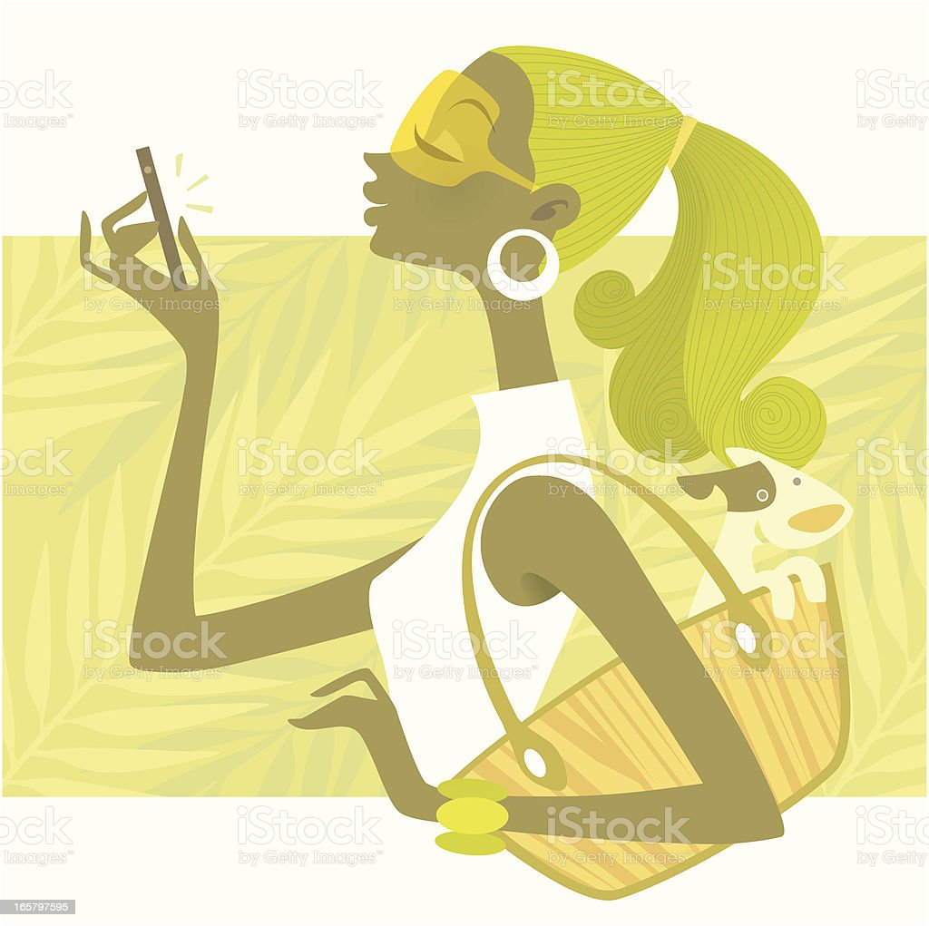 Fashionable  Technology (Smartphone Snapshot) royalty-free fashionable technology stock vector art & more images of beauty