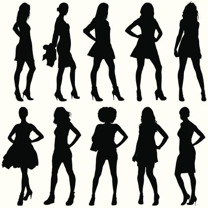 Fashionable Women Silhouettes