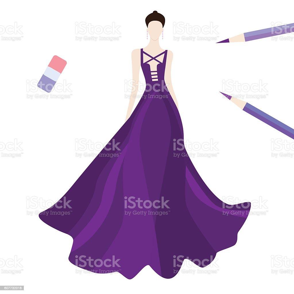 royalty free prom dress clip art vector images illustrations istock rh istockphoto com