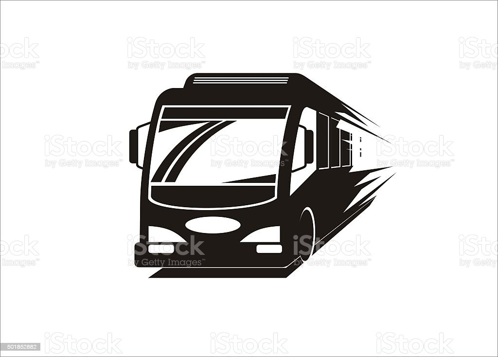 fast bus simple illustration vector art illustration
