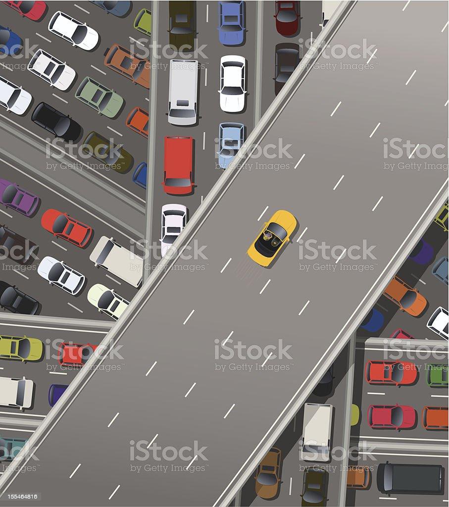 Fast car vector art illustration