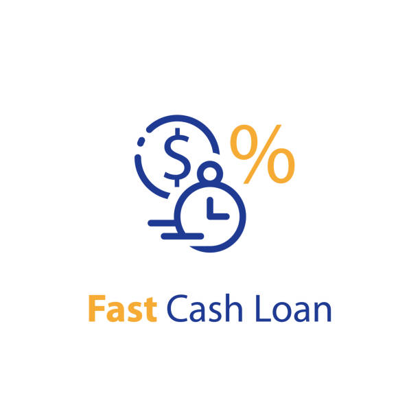 Fast cash loan, financial supply, banking service, instant money transfer