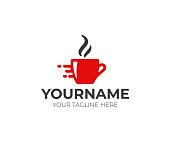 Fast coffee design. Beverage vector design. Cup of tea illustration