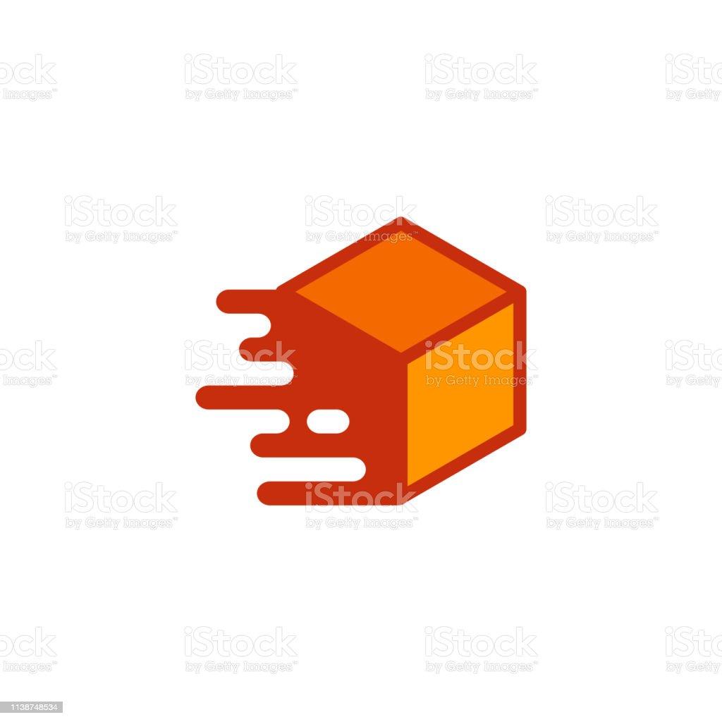 fast delivery box icon design. box icon symbol illustration vector...