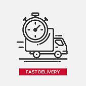Fast delivery service single icon