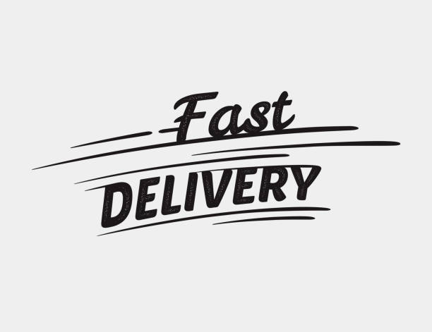 Fast delivery typographic inscription – Vektorgrafik
