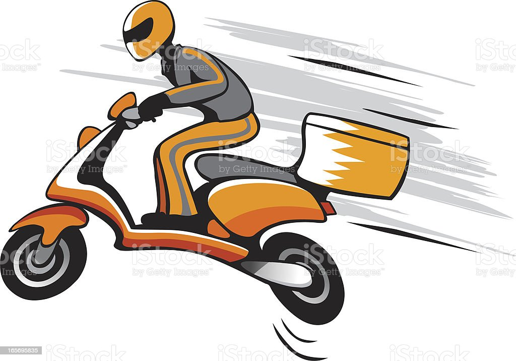 fast delivery vector art illustration