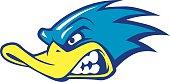 fast duck mascot