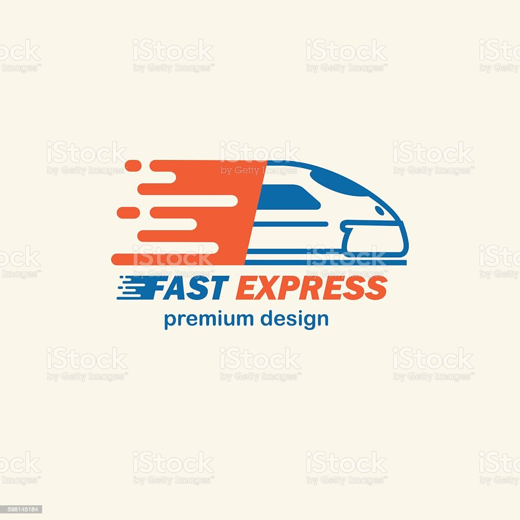 Fast Expres. The template for s, icons of modern trains. vector art illustration