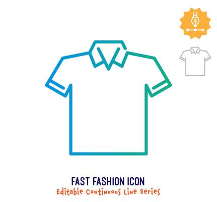 Fast Fashion Continuous Line Editable Stroke Line