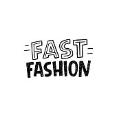 Fast Fashion hand lettering inscription