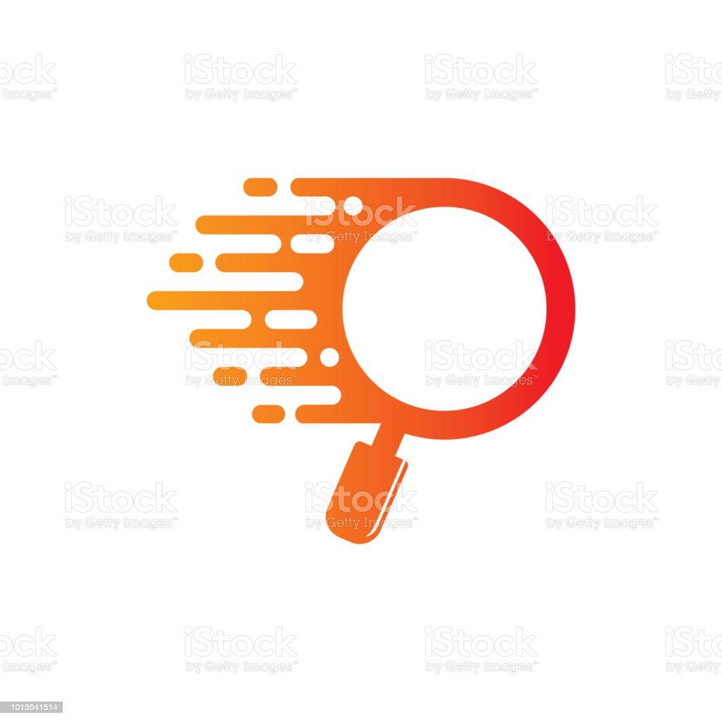Plantilla de diseño de logotipo buscador rápido - ilustración de arte vectorial