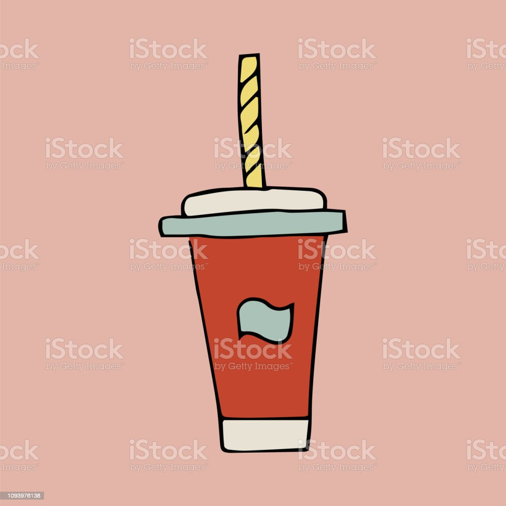 Fast Food A Glass Of Soda Water Stock Vector Art & More