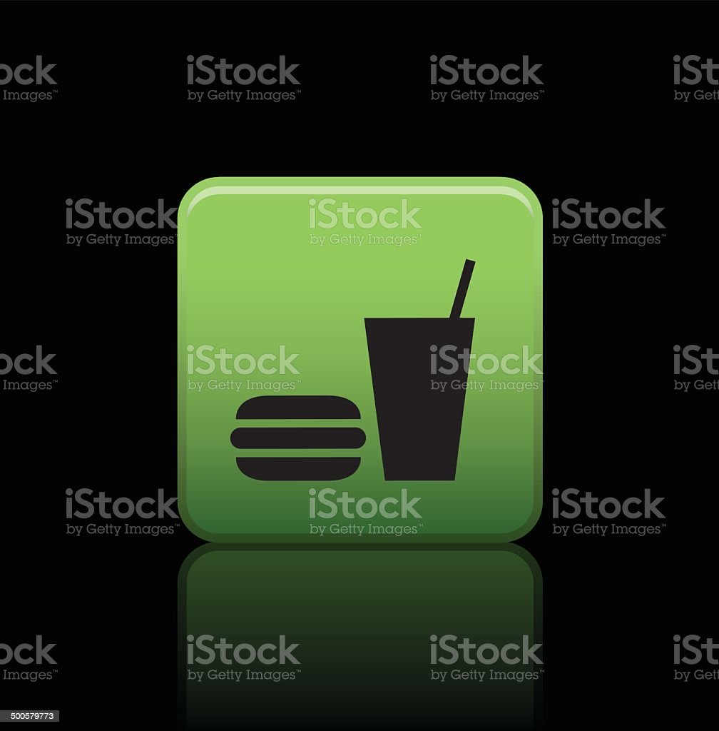 fast food button icon royalty-free stock vector art
