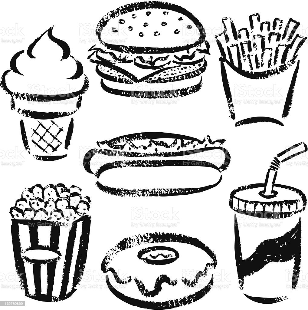 Fast Food By Handdrawn Stock Vector Art Amp More Images Of