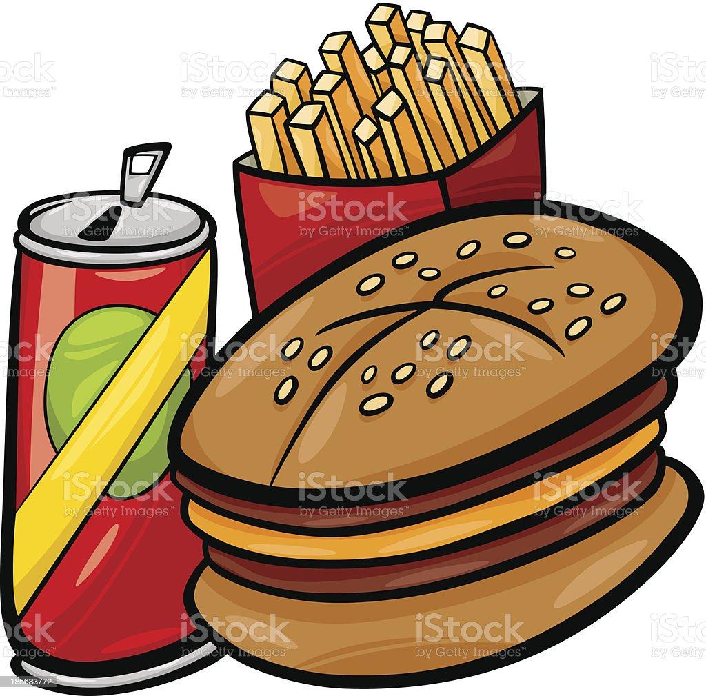 fast food cartoon clip art royalty-free stock vector art