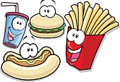 Here's a few anthropomorphic fast food stuffs. So very very bad yet sooo very very nice. I think they would look cool on the side of your fast food van or in your cafe window. Have fun.