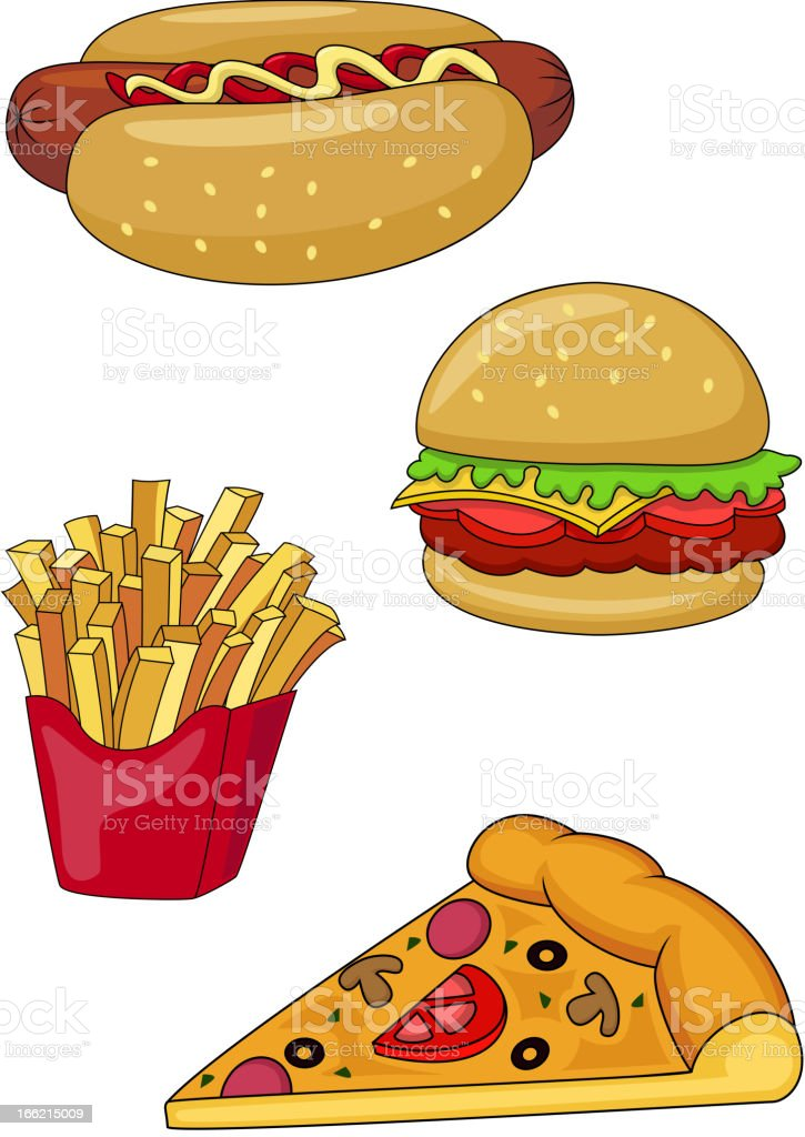 Fast food collection royalty-free stock vector art