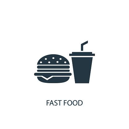 Fast food creative icon. Simple element illustration