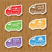 Fast food delivery stickers