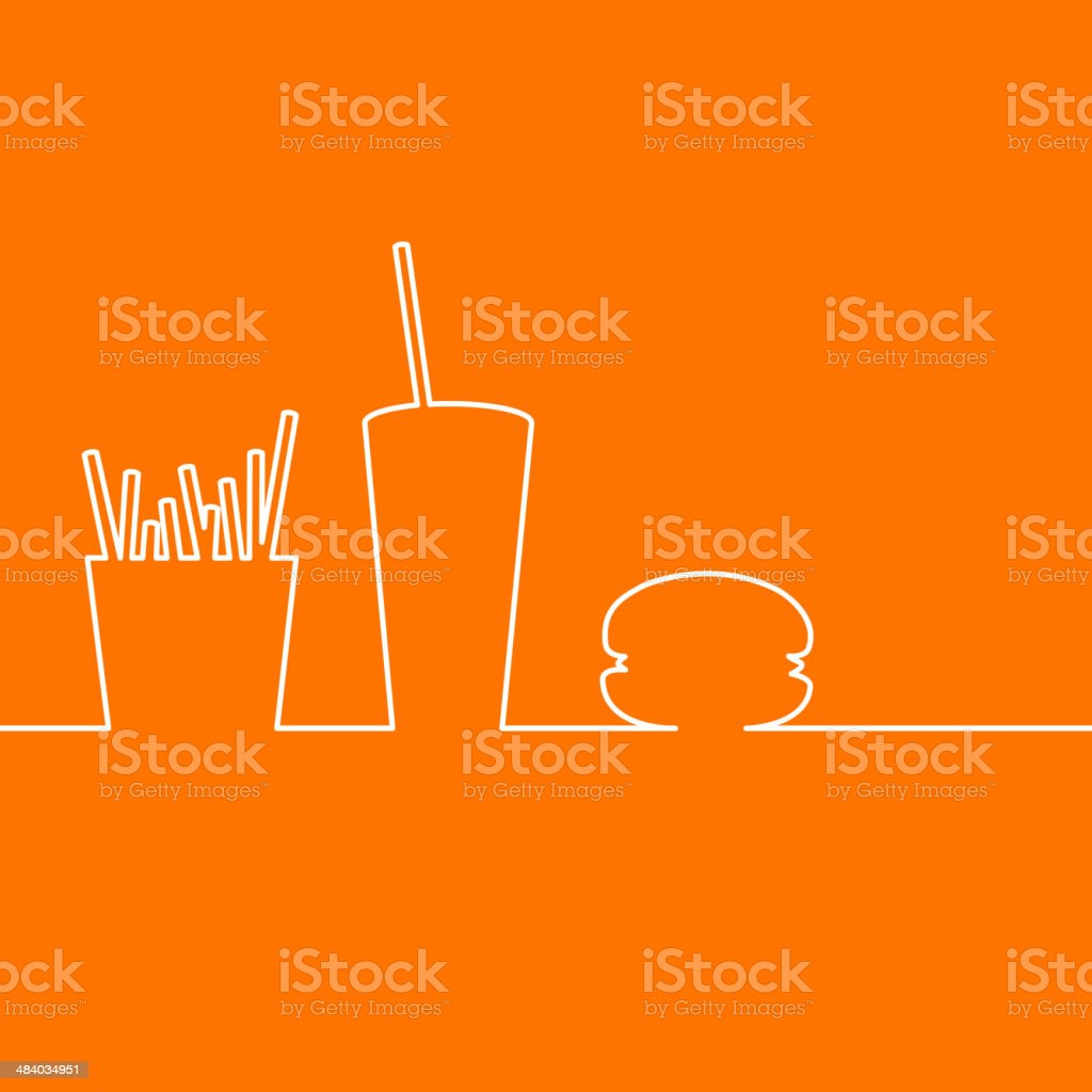 Fast food design. vector art illustration