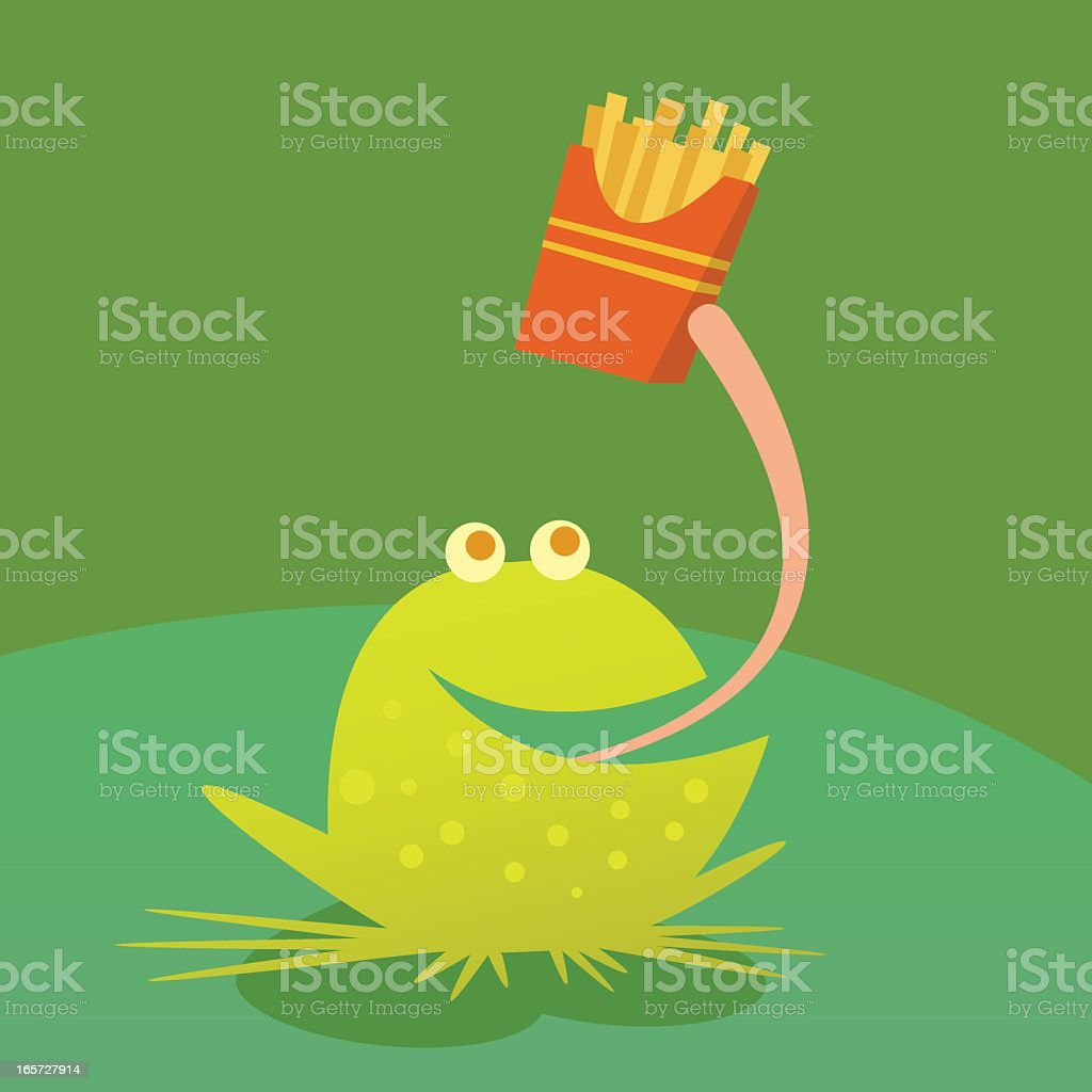 Fast Food Frog vector art illustration