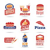 Lia fast food food icons can be used in relevant works.