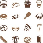 Vector file of Fast Food Icons - Color Series related vector icons for your design or application.Raw style. Files included: vector EPS, JPG. See more in this series.