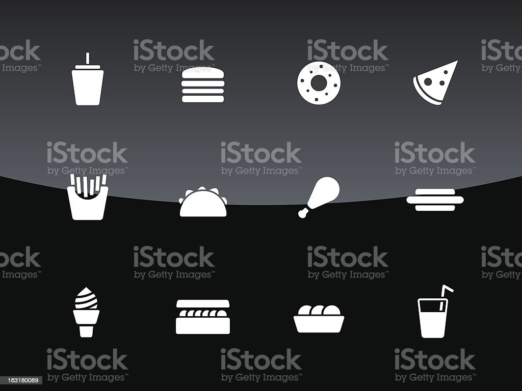 Fast food icons   Glass Style royalty-free stock vector art