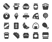 Fast Food Icons Vector EPS File.