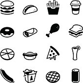 Vector file of Fast Food Icons