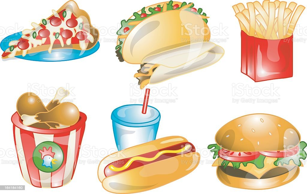 Fast Food icons royalty-free fast food icons stock vector art & more images of beef taco