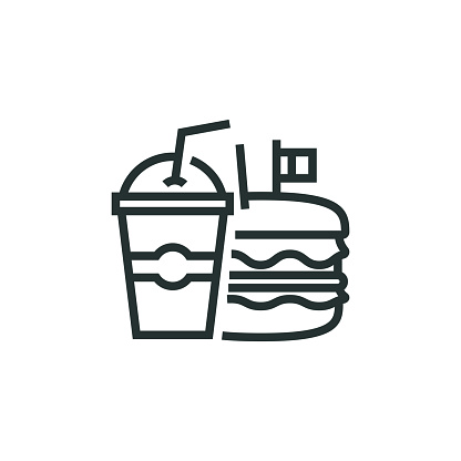 Fast Food Line Icon