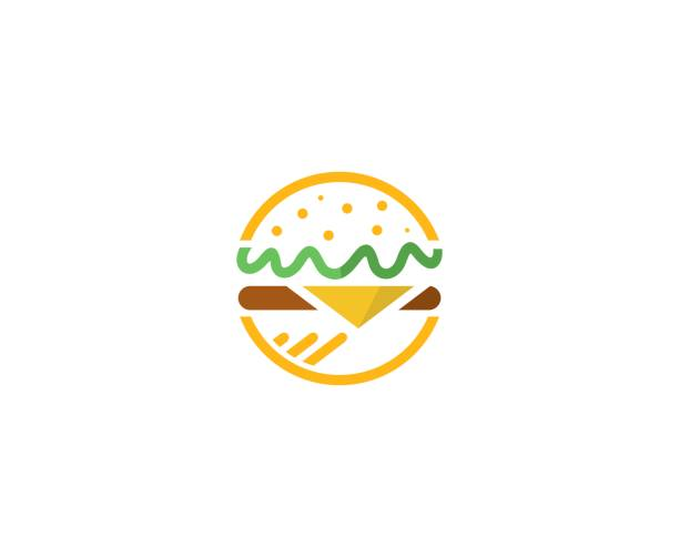 fast food logo - food delivery stock illustrations