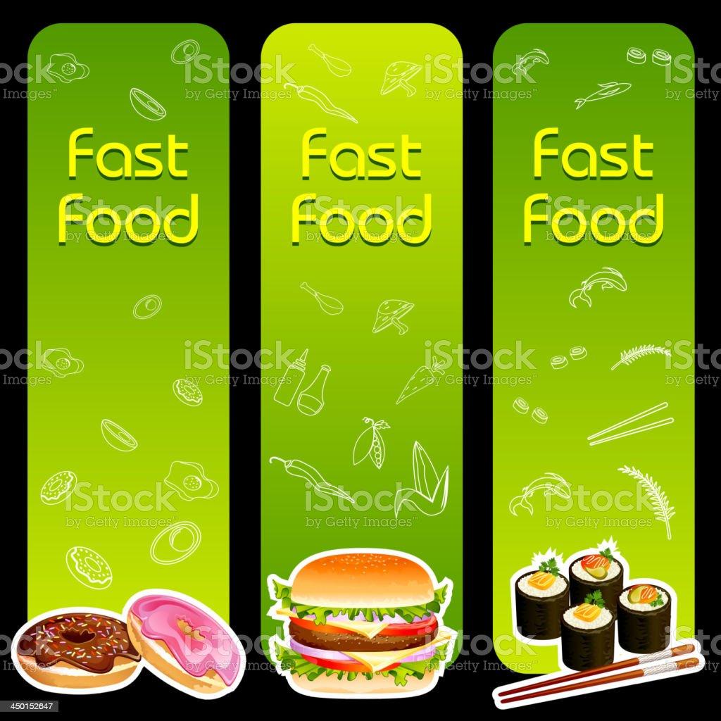 Fast Food Menu Template royalty-free stock vector art