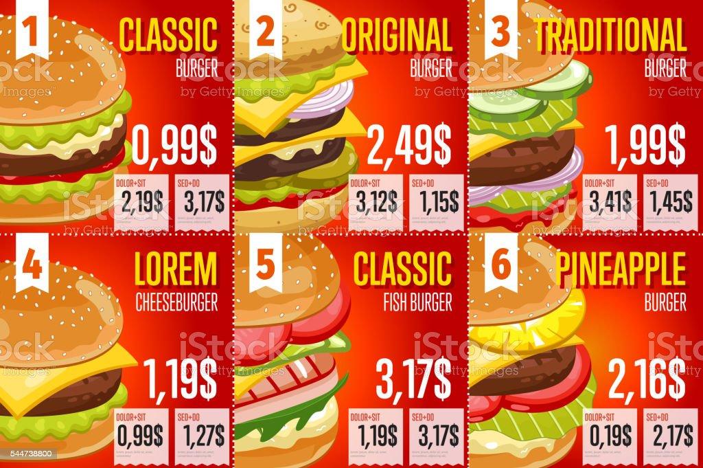 Fast Food Menu Template Royalty Free Stock Vector Art Amp