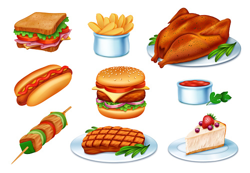 Fast Food Realistic Vector
