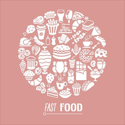 Fast Food Restaurant Collage