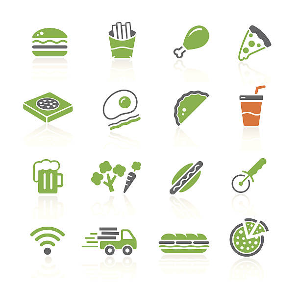 fast food restaurant | spring series - sub sandwich stock illustrations, clip art, cartoons, & icons