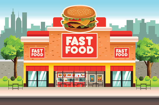 Fast food stock illustrations