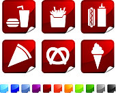 fast food royalty free vector icon set
