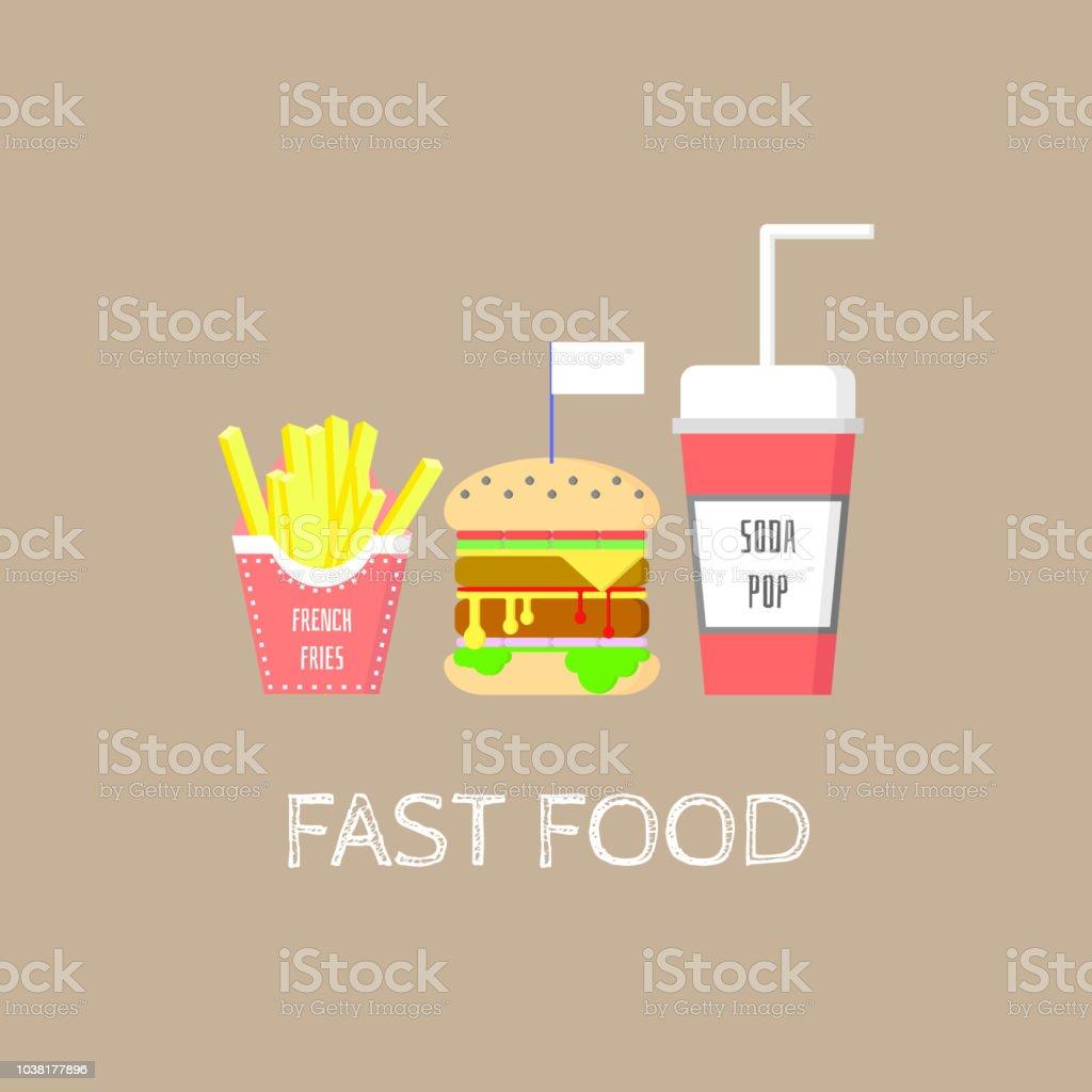 Fast Food Set Logo Symbol Sign Label Stock Vector Art More Images