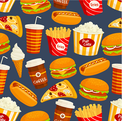 Junk food stock illustrations