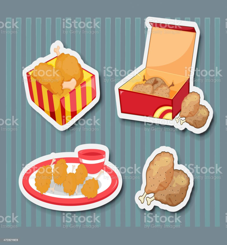 Fast food stickers royalty-free fast food stickers stock vector art & more images of appetizer