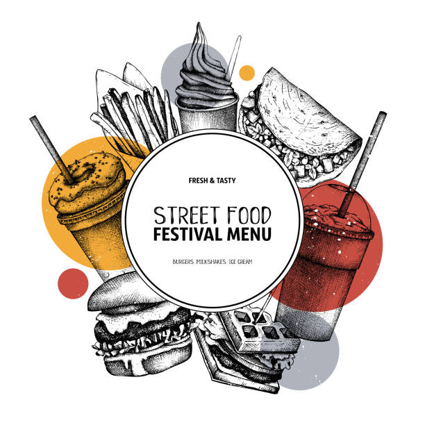 Fast food vector design vector art illustration