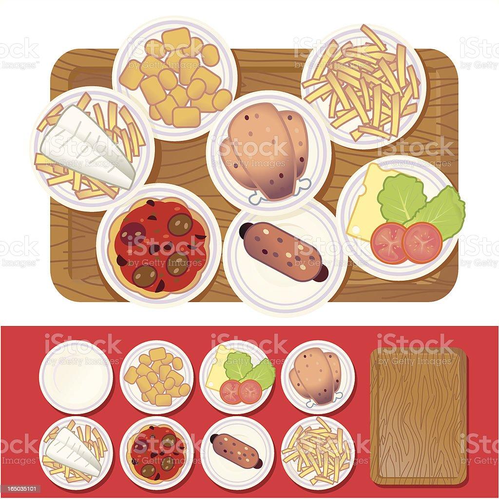Fast Food vector art illustration