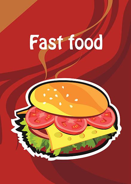 fast-food - schweinebraten stock-grafiken, -clipart, -cartoons und -symbole