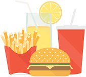 Fast food vector illustration. isolated on white