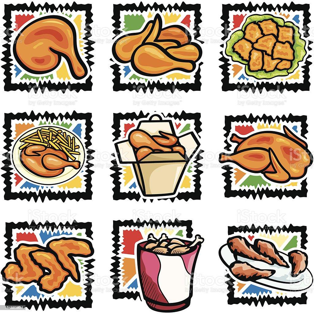 Fast Food VII: Grilled Chicken (Vector) vector art illustration
